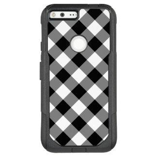Black and White Diagonal Plaid OtterBox Commuter Google Pixel XL Case