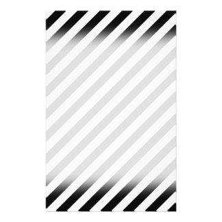 Black and White Diagonal Stripes. 14 Cm X 21.5 Cm Flyer