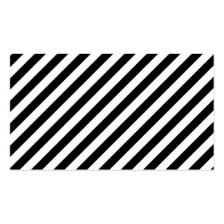 Black and White Diagonal Stripes. Business Card Templates