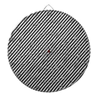 Black and white diagonal stripes dartboards