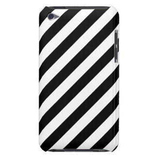 Black And White Diagonal Stripes Pattern Case-Mate iPod Touch Case
