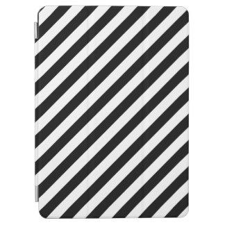 Black And White Diagonal Stripes Pattern iPad Air Cover