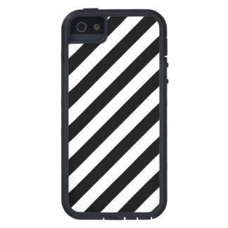 Black And White Diagonal Stripes Pattern iPhone 5 Cover