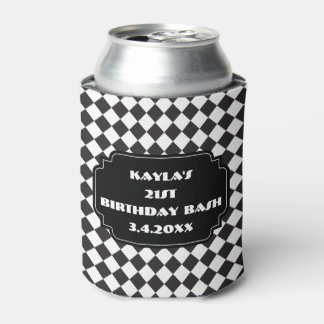 Black And White Diamond Can Cooler
