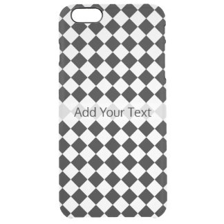 Black And White Diamond Pattern by Shirley Taylor Clear iPhone 6 Plus Case