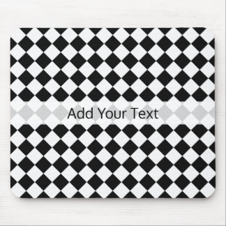 Black and White Diamond Pattern by Shirley Taylor Mouse Pad