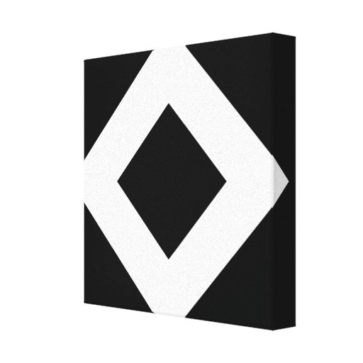 Black and White Diamond Pattern Gallery Wrap Canvas