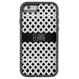 Black and White Diamond Pattern Tough Xtreme iPhone 6 Case