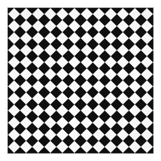 Black And White Diamond Shape Pattern by STaylor Photo