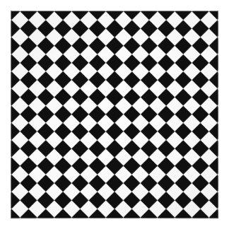 Black And White Diamond Shape Pattern Photo