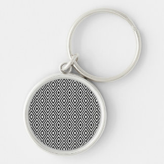 Black and white diamonds keychain