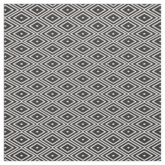 Black and White Diamonds Pattern Fabric