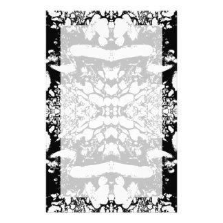 Black and White Digital Art. Stationery Paper