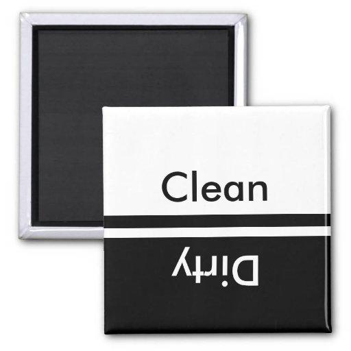 black and white dishwasher magnet
