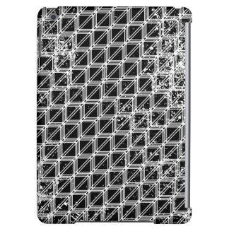Black And White Distressed Grid Pattern