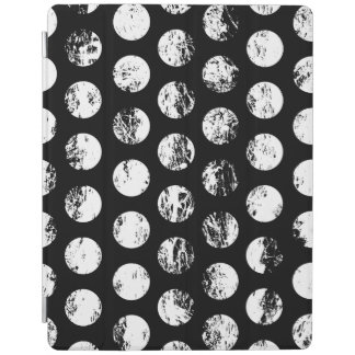 Black and White Distressed Spots Pattern iPad Cover