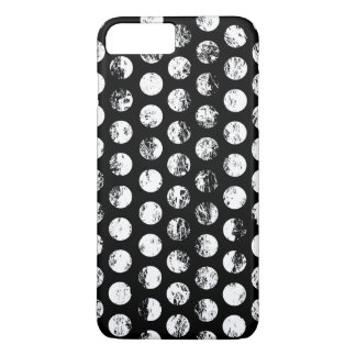 Black and White Distressed Spots Pattern iPhone 7 Plus Case