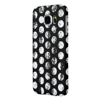 Black and White Distressed Spots Pattern Samsung Galaxy S6 Cases