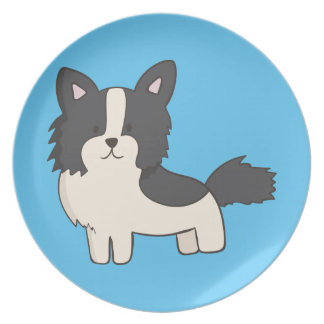 Black and White Dog Plate