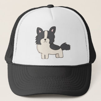 Black and White Dog Trucker Hat