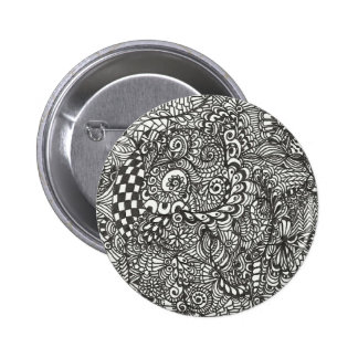 Black and white Doodle Button