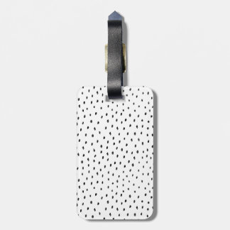 Black and White Doodle Spot Luggage Tag