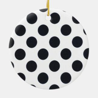 Black and White Dot Round Ceramic Decoration