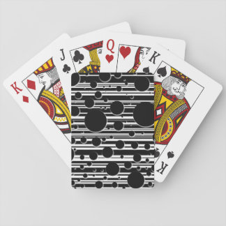 Black and White Dots and Stripes Playing Cards