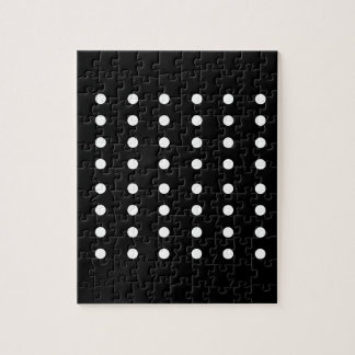 Black and white Dots / Vintage edition Jigsaw Puzzle