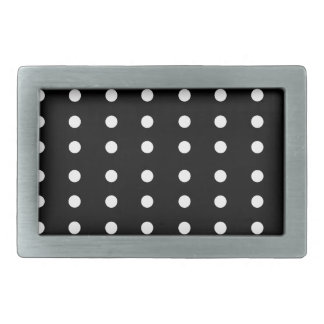 Black and white Dots / Vintage edition Rectangular Belt Buckles
