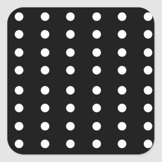 Black and white Dots / Vintage edition Square Sticker