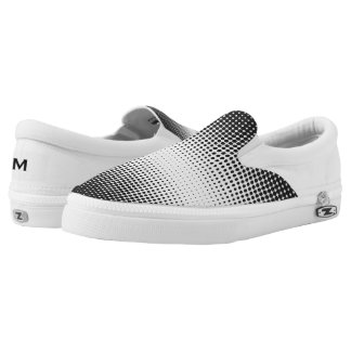 Black and White Dots Zipz Slip On Shoe Printed Shoes