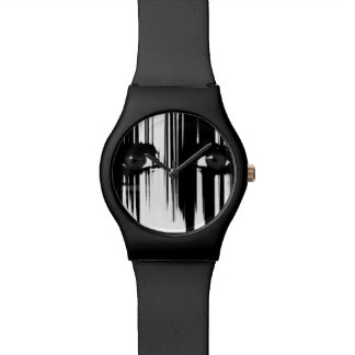 Black and White Dramatic Eyes Wrist Watches