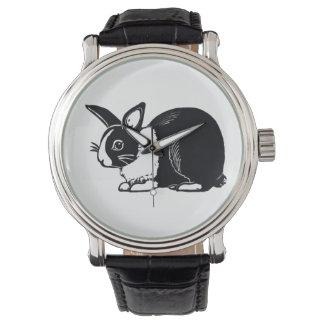 Black and White Dutch Rabbit Wristwatch