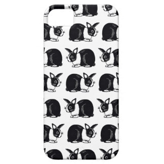 Black and White Dutch Rabbits iPhone 5/5s Case