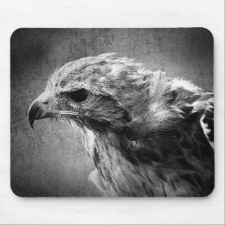 Black and white eagle mousemat