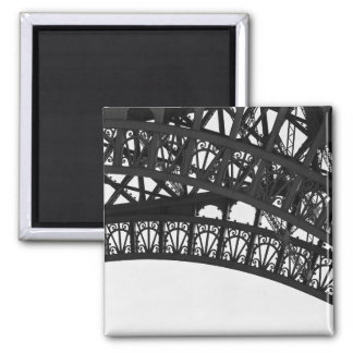 Black and White Eiffel Tower Arch Photo Magnet