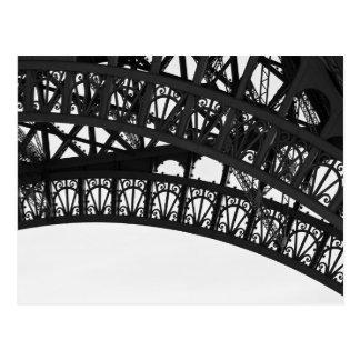 Black and White Eiffel Tower Arch Postcard - Paris