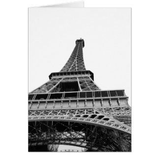 Black and White Eiffel Tower Card