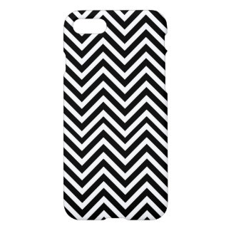 Black and white elegant chevron customizable iPhone 8/7 case