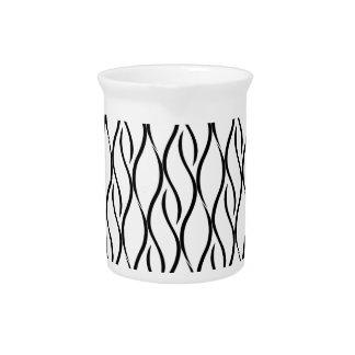 Black and white elegant pattern pitcher