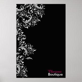 Black and White Elegant Vintage Poster