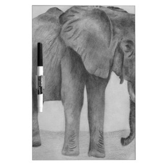 Black and White Elephant Dry Erase Whiteboards