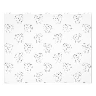 Black and White Elephant Pattern. 11.5 Cm X 14 Cm Flyer