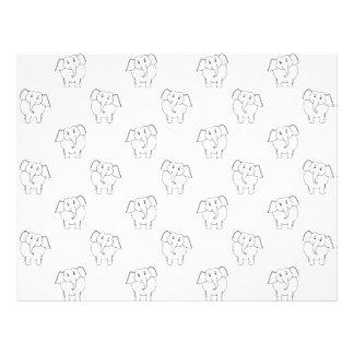 Black and White Elephant Pattern. 21.5 Cm X 28 Cm Flyer