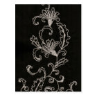 Black and White Embroidery Postcard
