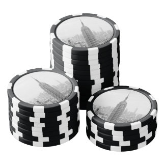 Black and White Empire State Building Manhattan Poker Chips