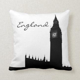 Black and White England LandmarkPillow Cushion