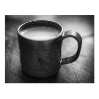 Black and White Espresso Coffee Postcard. Postcard
