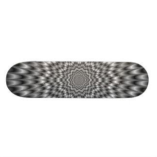 Black and White Eye Bender Skateboard